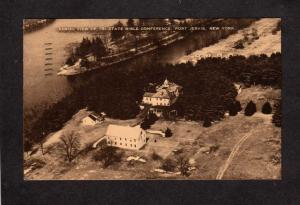 NY Tri State Bible Conference Bldg Camp Port Jervis New York Tri-State Postcard