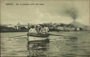Napoli Naples Italy - Life Saving? Row Boat & Men c1910 Postcard