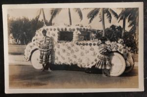 Mint USA RPPC Real Picture Postcard Native American Indian Flowers Parade