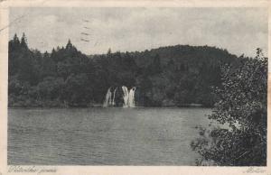 Waterfalls, Motiv, Plitvička Jezera, Croatia, 1910-1920s