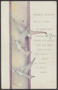 Good Times Coming,Birds Postcard