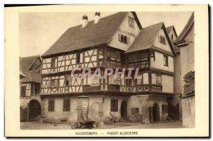 Old Postcard Kaysersberg Alsatian House