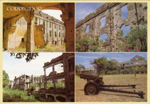 4-Views, Remains of Mile Long Barracks, Corregidor, Philippines, 50-70s