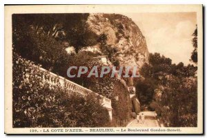 Old Postcard The Riviera Boulevard Riviera Beaulieu Gordon Bennett