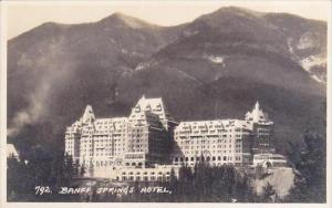 Canada Alberta Banff Springs Hotel Real Photo