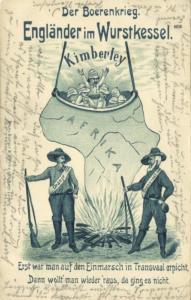 BOER WAR, Caricature, English in Sausage Boiler at Kimberley (1901) Stamp
