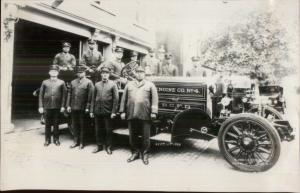Washington DC First Black Fire Fighting Unit Fire Engine 1926 Snapshot Photo