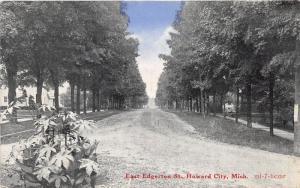 Howard City Michigan~East Edgerton Street~Houses~Montcalm County~1915 Postcard