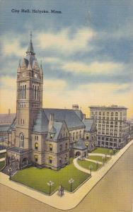 Aerial View, City Hall, HOLYOKE, Massachusetts, 30-40's