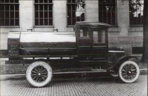 Sunoco Oils & Navy Gas Truck c1910 Image  50-60s Kodak Real Photo Postcard
