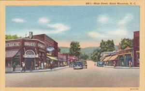 Main Street Business District Showing Drug Store Black Mountain North Carolin...