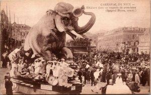 France Carnaval De NICE Photograph Postcard - ELEPHANT CROWD - UNPOSTED