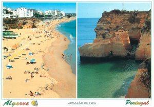 Portugal Postcard Algarve Armacao de Pera different aspects
