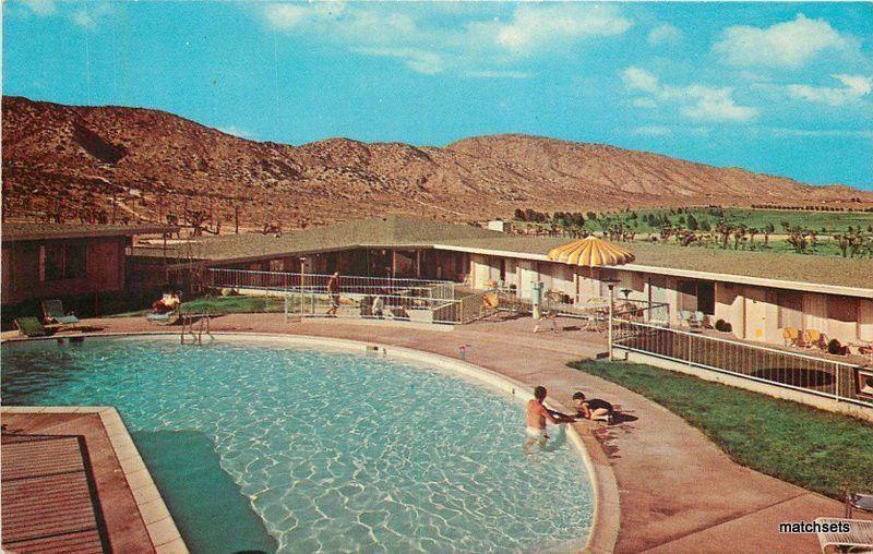 1960s Yucca Inn Motor Hotel Valley California Pool Dexter Postcard 2566
