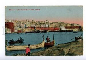 133076 MALTA view of VALLETTA from Senglea Vintage postcard
