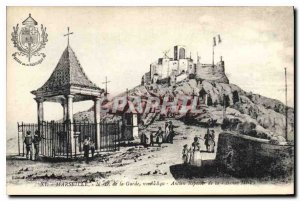 Postcard Old Marseille N D of the Guard in 1840 former altar of the Good Mother