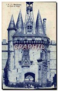 Old Postcard Bordeaux The Palace Gate