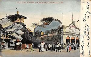Amusement Park Postcard Post Card Luna Park, Mother Goose Shoe Cleveland, Ohi...