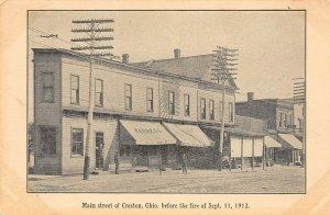 LP86   Creston Ohio      Postcard Main St