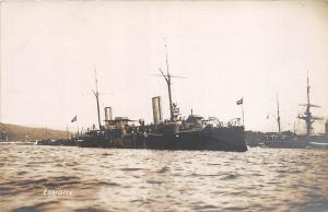 B3/ Ship Boat Real Photo RPPC Postcard Italian Cruiser Euridice 8