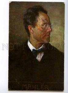 244148 Gustav MAHLER Austrian COMPOSER by EICHHORN Vintage PC