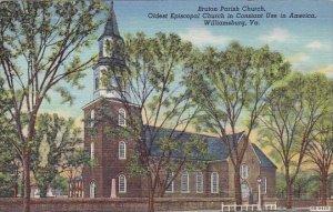 Virginia Williamsburg Braton Parish Church Oldest Episcopal Church In Constan...