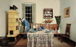 Postcard John Vogler House Dining Room Winston-Salem North Carolina Posted 1957
