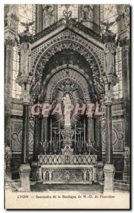 Old Postcard Lyon Shrine of the Basilica of Fourviere