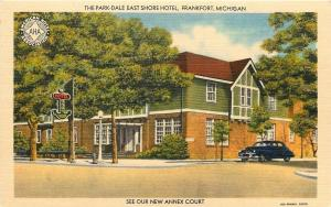 Frankfort Michigan~The Park Dale East Shore Hotel~Herren Bros~1940s Linen Motel