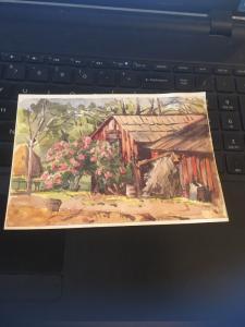 Vintage Postcard:The Foot Sisters Ranch, Elsinore Lake CA
