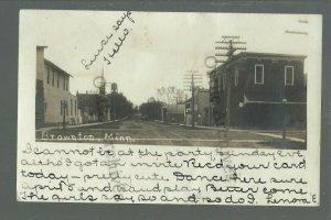Brownton MINNESOTA RPPC 1907 MAIN STREET nr Stewart Glencoe Hutchinson Winthrop
