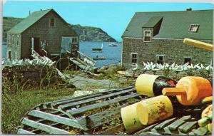 Lobster Pots and Buoys on Maine Coast