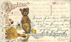 Artist Outcault, Bear Postcard Post Card Old Vintage Antique Bears Artist Out...