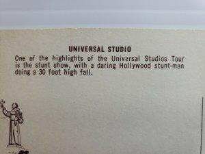 Vintage Postcard Universal Studios Western Stunt Men Movie Makers