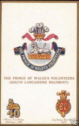 UK Military Badges, Prince of Wales's Volunteers 1910s / HipPostcard