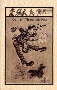 Out on Three Strikes Out on Three Strikes Baseball 1913