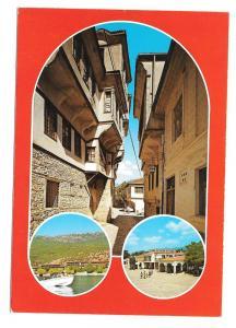 Macedonia Ohrid Multiview Vintage Postcard 4X6 Yugoslavia