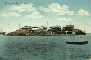 yemen, ADEN, Quarantine Island (1910s) Postcard