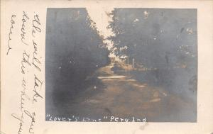 Peru Indiana~We Will Take You Down Lovers Lane When You Come RPPC 1907