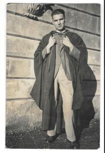 Exeter College, Oxford Graduate Bill in new MSc Hood 1935 or 36 RP PPC, Unused
