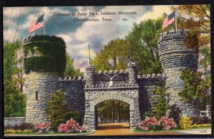 Tennessee CHATTANOOGA Entrance to Point Park Lookout Mountain - LINEN