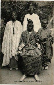 CPA AK SÉNÉGAL-Dakar-Femmes et jeunes filles Oulofs (331127)