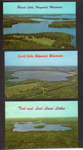 WI Lot 3 Aerial POSTCARDS ROUND LAKE HAYWARD WISCONSIN