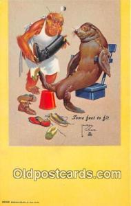 Artist Lawson Wood Some Feat to Fit Postcard Post Card Artist Lawson Wood Som...