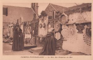 Paimpol Remembrance To Military Sea Dead Wall Antique French Postcard