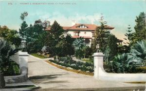 Pasadena CA~Robert J Burdettes Home~Orange Grove Ave~Burlington Hawkeye Man~1910