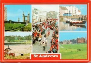 St. Andrews Scotland UK Kate Kennedy Procession Vintage Postcard D56