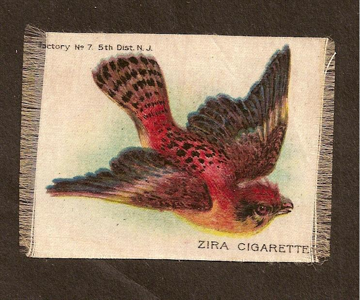 TURN OF CENTURY CIGARETTE SILK -  NICE BIRD
