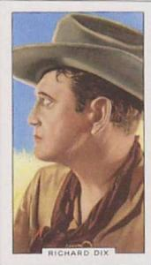 Gallaher Cigarette Card Portraits Of Famous Stars No  12 Richard Dix