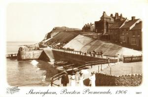 Vintage 1906 Reproduction Postcard, Sheringham Beeston Promenade, Norfolk 41U